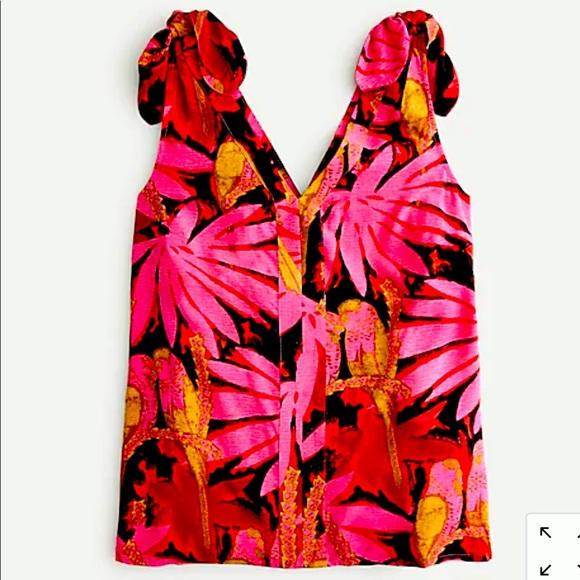 Palm print sleeveless top